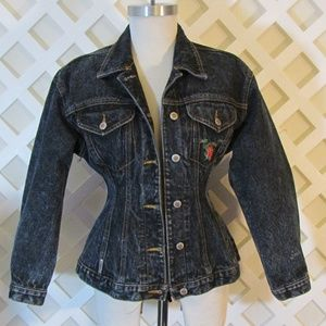 DENIM JACKET by JORDACHE FRILLS size S